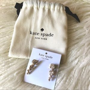 Kate Spade Crystal Flower Crawler Earring NWT